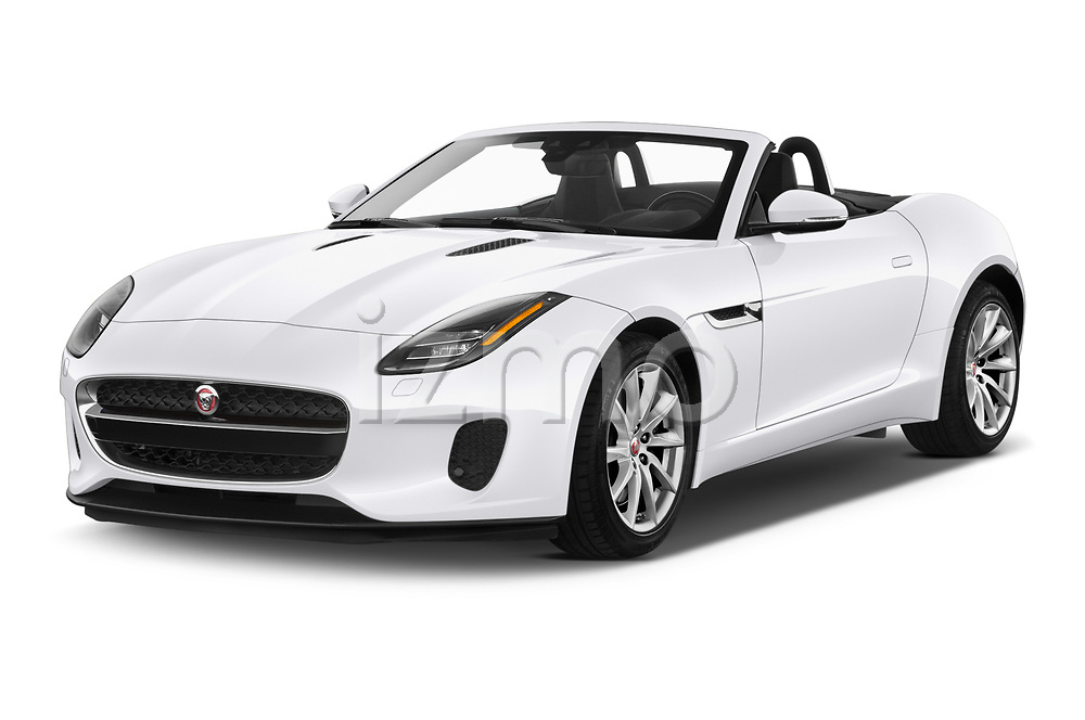 2019 Jaguar F-Type - 2 Door Convertible Angular Front automotive stock photos of front three quarter view