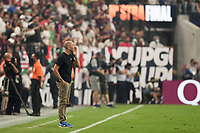 LAS VEGAS, NV - AUGUST 1: United States head coach Gregg Berhalter during a game between Mexico and USMNT at Allegiant Stadium on August 1, 2021 in Las Vegas, Nevada.
