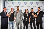 John McKay, Ray Molinere, Darren Woodson, Carole Hart, Jay Paul Molinere and David Otunga at the Time Warner Media Cabletime Upfront media event held at the Private Social Restaurant  in Dallas, Texas.