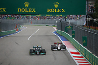 26th September 2021; Sochi, Russia; F1 Grand Prix of Russia, Race Day: 77 BOTTAS Valtteri fin, Mercedes AMG F1 GP W12 E Performance and 99 GIOVINAZZI Antonio ita, Alfa Romeo Racing ORLEN C41