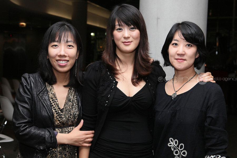 NO FEE 14/10/2010.  Bóthar's Rugby Rocks Fashion.  Soyoung Choi, Soyoung Jeon and Ji Eum Ro are pictured at Bóthar's Rugby Rocks Fashion fundraising event at the Aviva Stadium in Dublin on Thursday night were {insert names here}. All proceeds from the event go towards Bóthar's projects in Pakistan. To find out more about Bóthar's work in Pakistan or in any of the 35 project countries Bóthar works in, lo-call 1850 82 99 99 or visit www.bothar.org. Picture James Horan/Colllins Photos