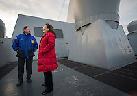 130430-N-DR144-776 COOK INLET, Alaska (April 30, 2013)- City of Anchorage Mayor Dan Sullivan and his wife Lynette tour San Antonio-class amphibious transport dock ship USS Anchorage (LPD 23) as the ship approaches the coast of Alaska. Anchorage is currently en route to its namesake city of Anchorage, Alaska for its commissioning ceremony May 4. (U.S. Navy photo by Mass Communication Specialist 1st Class James R. Evans / RELEASED)