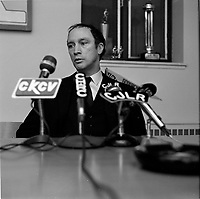 Pierre Trudeau<br /> en visite a Quebec, mars 1968<br /> (date exacte inconnue)<br /> <br /> PHOTO : Agence Quebec Presse<br /> - Photo Moderne