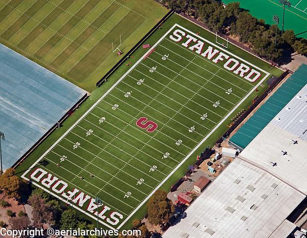 aerial photograph of the Stanford University football field, Palo Alto, Santa Clara, California