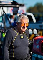 Oct 14, 2019; Concord, NC, USA; NHRA top fuel driver Chris Karamesines during the Carolina Nationals at zMax Dragway. Mandatory Credit: Mark J. Rebilas-USA TODAY Sports