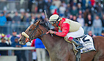 April 5, 2014: Wicked Strong, ridden by jockey Rajiv Maragh, wins the Wood Memorial Stakes on Wood Memorial Day at Aqueduct Race Track in Ozone Park, NY. Scott Serio/ESW/CSM