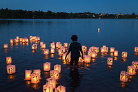 From Hiroshima to Hope, Toro Nagashi Lantern Floating Ceremony, Green Lake, Seattle, WA, USA.
