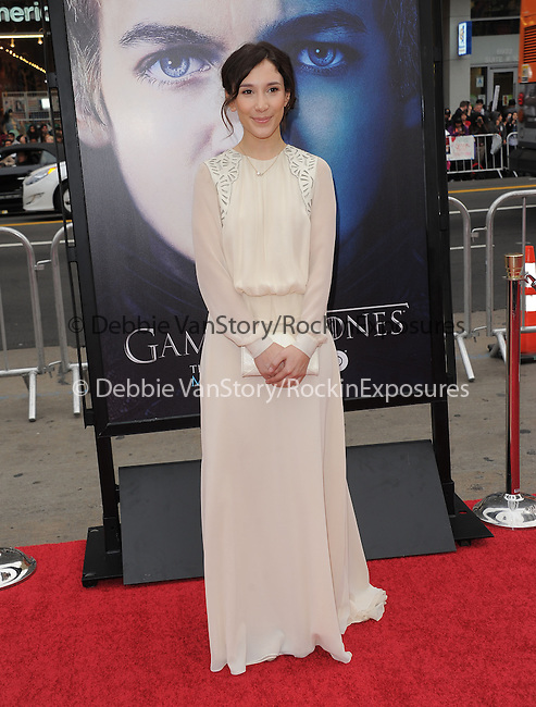 Sibel Kekilli at HBO's L.A. Premiere of Game of Thrones  held at The Grauman's Chinese Theater in Hollywood, California on March 18,2013                                                                   Copyright 2013 Hollywood Press Agency