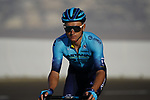 Yevgeniy Gidich (KAZ) Astana-Premier Tech on the final climb of Stage 3 of the 2021 UAE Tour running 166km from Al Ain to Jebel Hafeet, Abu Dhabi, UAE. 23rd February 2021.  <br /> Picture: Eoin Clarke | Cyclefile<br /> <br /> All photos usage must carry mandatory copyright credit (© Cyclefile | Eoin Clarke)