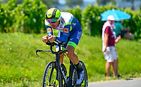 17th July 2021, St Emilian, Bordeaux, France;  VAN POPPEL Boy (NED) of INTERMARCHE - WANTY GOBERT MATERIAUX during stage 20 of the 108th edition of the 2021 Tour de France cycling race, an individual time trial stage of 30,8 kms between Libourne and Saint-Emilion.
