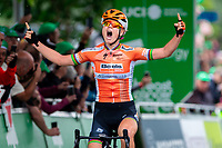 Picture by Alex Whitehead/SWpix.com - 16/06/2018 - Cycling - 2018 OVO Energy Women's Tour - Stage 4, Evesham to Worcester - Amalie Dideriksen of Boels Dolmans wins Stage 4.