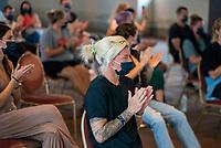 MIYAZAKI, JAPAN - JULY 12: Jane Campbell #22 of the USWNT attends a Shinto victory ceremony organized by the Miyazaki Jingu shrine at the hotel grounds on July 12, 2021 in Miyazaki, Japan.
