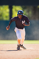 Joseph Reed (20) of Randolph Henry High School in Charlotte Court House, Virginia playing for the New York Yankees scout team at the South Atlantic Border Battle at Doak Field on November 2, 2014.  (Brian Westerholt/Four Seam Images)