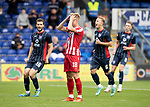 Ross County v St Johnstone…31.07.21  Global Energy Stadium<br />Ali McCann hold his head in his hands after missing a penalty<br />Picture by Graeme Hart.<br />Copyright Perthshire Picture Agency<br />Tel: 01738 623350  Mobile: 07990 594431