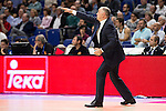 Real Madrid and Crvena Zvezda Telekom during Euroligue Basketball at Barclaycard Center in Madrid, October 22, 2015<br /> Coach Pablo Laso.<br /> (ALTERPHOTOS/BorjaB.Hojas)