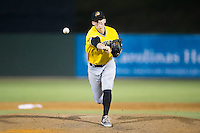 West Virginia Power relief pitcher Sam Street (34) in action against the Kannapolis Intimidators at Intimidators Stadium on July 2, 2015 in Kannapolis, North Carolina.  The Power defeated the Intimidators 5-1.  (Brian Westerholt/Four Seam Images)