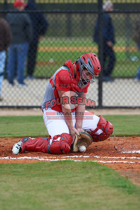Layden White (8) of Lubbock, Texas during the Baseball Factory All-America Pre-Season Rookie Tournament, powered by Under Armour, on January 13, 2018 at Lake Myrtle Sports Complex in Auburndale, Florida.  (Michael Johnson/Four Seam Images)