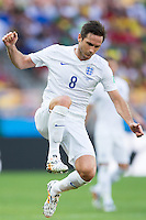 Frank Lampard of England jumps up