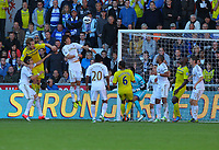 Saturday, 06 October 2012<br /> Pictured: Ki Sung Yueng, Chico Flores, Jonathan de Guzman, Ashley Williams, Ben Davies, Leon Britton of Swansea, Adrian Mariappa of Reading<br /> Re: Barclays Premier League, Swansea City FC v Reading at the Liberty Stadium, south Wales.