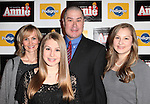 Merwin Foard with wife & daughters attending the Broadway Opening Night Performance After Party for 'Annie' at the Hard Rock Cafe in New York City on 11/08/2012