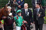 10-04 Qatar Prix de l'Opéra - Grade 1 - France. Maxime Guyon with H.H Aga Khan..Winner : Shalanaya. Jockey : Maxime Guyon. Owner : H.H Aga Khan. Trainer : M. Delzangles. 2nd Place for Board meeting with A. Crastus. 3rd Place for TP Queally. Owner : Khalid Abdullah. Trainer : HRA Cecil.