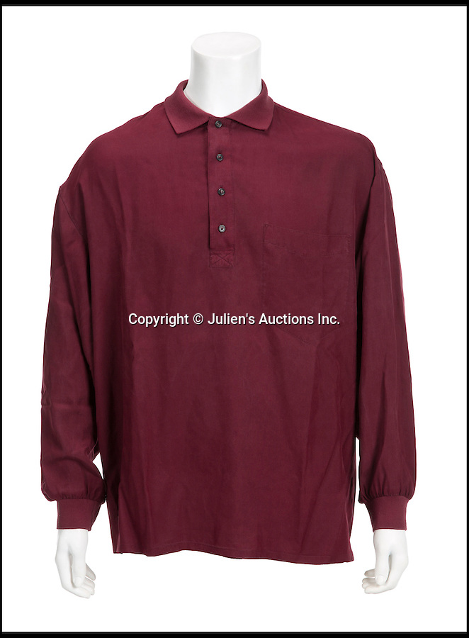 """BNPs.co.uk (01202 558833)<br /> Pic: JuliensAuctions/BNPS<br /> <br /> Patrick Swayze's silk shirt from Ghost is estimated at £3,193.<br /> <br /> The iconic leather jacket worn by Patrick Swayze as he delivers the famous line """"Nobody puts Baby in a corner"""" is up for grabs.<br /> <br /> The notable piece of clothing from the 1987 classic Dirty Dancing has been given a conservative estimate of less than £5,000 but auctioneer Darren Julien says the """"Holy Grail"""" of Swayze memorabilia could fetch more than six times that.<br /> <br /> The surfboard from Point Break (1991) and Swayze's shirt from Ghost (1990) are also among the key lots being sold by his wife of 34 years, Lisa Niemi.<br /> <br /> The Hollywood items being sold by Julien's in Los Angeles, following the star's death from pancreatic cancer in 2009, offer film fans the chance to own a piece of pop culture history.<br /> <br /> The memorabilia will be sold in Los Angeles on April 28 and 29."""