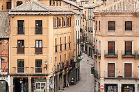 Street and buildings, Segovia, Spain