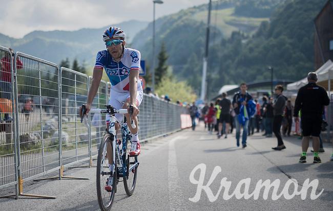 Thibaut Pinot (FRA/FDJ) after finishing<br /> <br /> Stage 19: San Candido/Innichen › Piancavallo (191km)<br /> 100th Giro d'Italia 2017
