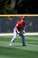 Boston Red Sox Jayce Ray (37) during a minor league Spring Training game against the Baltimore Orioles on March 16, 2017 at the Buck O'Neil Baseball Complex in Sarasota, Florida. (Mike Janes/Four Seam Images)