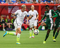 VANCOUVER, CANADA - June 15, 2015: The Woman's World Cup Nigeria vs USA match at BC Place.  Final score, USA 1, Nigeria 0.