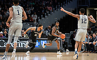 WASHINGTON, DC - FEBRUARY 19: Alpha Diallo #11 and Luwane Pipkins #12 of Providence start an attack during a game between Providence and Georgetown at Capital One Arena on February 19, 2020 in Washington, DC.