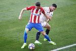 Atletico de Madrid's Yannick Ferreira Carrasco (l) and Sevilla FC's Pablo Sarabia during La Liga match. March 19,2017. (ALTERPHOTOS/Acero)