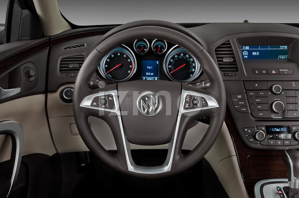 Steering wheel view of a 2011 Buick Regal CXL Sedan
