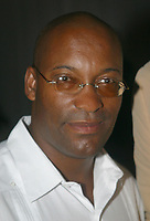 Miami Beach, FL 6-28-02<br /> John Singleton at the <br /> Delano Hotel's Orchard room for Lincoln's private dinner for the American Black Film Festival. The ABFF was held in Acapulco, Mexico for the past five years. This is the first year that the film festival has been held in Miami Beach. <br /> Photo by Adam Scull-PHOTOlink
