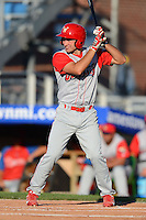 Williamsport Crosscutters second baseman Andrew Pullin #11 during a game against the Jamestown Jammers on June 20, 2013 at Russell Diethrick Park in Jamestown, New York.  Jamestown defeated Williamsport 12-6.  (Mike Janes/Four Seam Images)