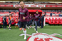 (L-R) Mike van and Martin Olsson of Swansea City exit the tunnel during the Sky Bet Championship match between Middlesbrough and Swansea City at the Riverside Stadium, Middlesbrough, England, UK. Saturday 22 September 2018