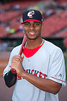 Pawtucket Red Sox shortstop Xander Bogaerts (15) poses for a photo before a game against the Buffalo Bisons on August 4, 2013 at Coca-Cola Field in Buffalo, New York.  Pawtucket defeated Buffalo 8-1.  (Mike Janes/Four Seam Images)