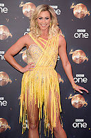 """Faye Tozer<br /> at the launch of """"Strictly Come Dancing"""" 2018, BBC Broadcasting House, London<br /> <br /> ©Ash Knotek  D3426  27/08/2018"""