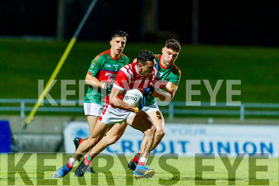 Mike Foley, East Kerry in action against Gavin Horan, Mid Kerry during the Kerry County Senior Football Championship Final match between East Kerry and Mid Kerry at Austin Stack Park in Tralee on Saturday night.