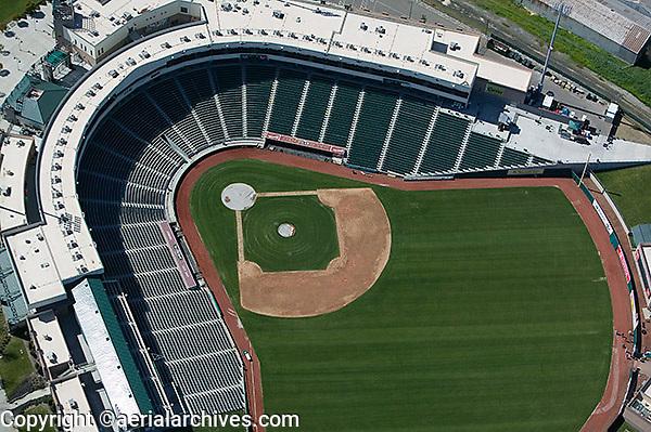 aerial photograph Raley Field stadium Sacramento, California