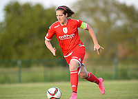 20160520 - TUBIZE , BELGIUM : Standard's Maud Coutereels pictured during a soccer match between the women teams of RSC Anderlecht and Standard Femina de Liege , during the sixth and last matchday in the SUPERLEAGUE Playoff 1 , Friday 20 May 2016 . PHOTO SPORTPIX.BE / DAVID CATRY