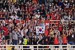 Soccer fans of South Korea cheer and show supports to their team during the AFC Asian Cup UAE 2019 Group C match between South Korea (KOR) and China (CHN)  at Al Nahyan Stadium on 16 January 2019 in Abu Dhabi, United Arab Emirates. Photo by Marcio Rodrigo Machado / Power Sport Images