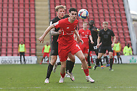 Conor Wilkinson of Leyton Orient and Tom Conlon of Port Vale during Leyton Orient vs Port Vale, Sky Bet EFL League 2 Football at The Breyer Group Stadium on 20th February 2021