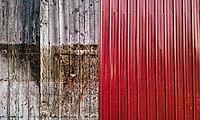 Red siding on old barn.  HTC EVO Phone photo. Manipulated with app.