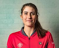 Den Bosch, The Netherlands, Februari 8, 2019,  Maaspoort , FedCup  Netherlands - Canada, Draw, Rebecca Marino (CAN)<br /> Photo: Tennisimages/Henk Koster