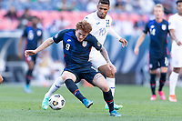 DENVER, CO - JUNE 3: Josh Sargent #9 of the United States moves with the ball during a game between Honduras and USMNT at EMPOWER FIELD AT MILE HIGH on June 3, 2021 in Denver, Colorado.