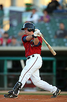April 19 2009: Koby Clemens of the Lancaster JetHawks bats against the High Desert Mavericks at Clear Channel Stadium in Lancaster,CA.  Photo by Larry Goren/Four Seam Images