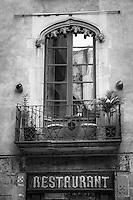 A restaurant in historic Barcelona.