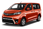 2018 Toyota Proace-Verso Viaggio 5 Door Minivan Angular Front stock photos of front three quarter view