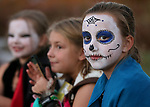 Mallory Brendel, 10, hangs out with friends at the Carson City Boo-nanza at the Community Center on Wednesday, Oct. 25, 2017. <br /> Photo by Cathleen Allison/Nevada Momentum